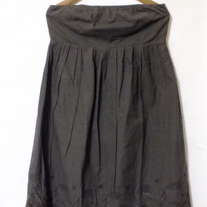 GAP Strapless Charcoal Embroidered Dress Size 12